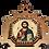Thumbnail: Christ Pantocrator/Hristos Svedrzitelj, Wooden Pendant