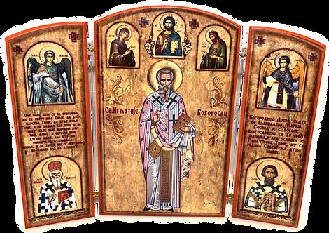 Triptych: St. Ignatius the God-Bearer / Sveti Ignjatije Bogonosac, small icons