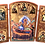 Thumbnail: Triptych: Dormition of the Theotokos / Uspenije Presvete Bogorodice, small icons
