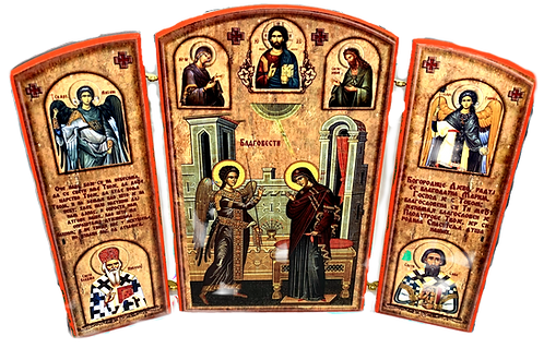 Triptych: The Annunciation / Blagovesti, small icons