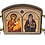 Thumbnail: Triptych: St. Alypius the Stylite/Sveti Alimpije Stolpnik, small icons
