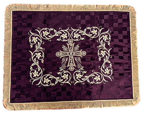 Dechani Gospel Cover – Purple with Gold Embroidery (Style II)