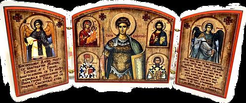 Triptych: St. Demetrius/ Sveti Dimitrije, small icons