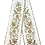 Thumbnail: Remeta Ribbons – Ivory with Gold Embroidery