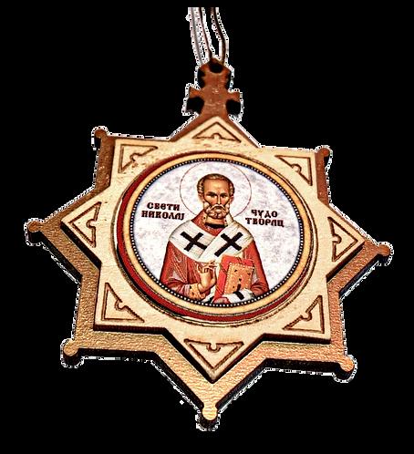 St. Nicholas/ Sveti Nikola, Wooden Pendant