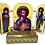 Thumbnail: Triptych with stand: St. Luke the Apostle and Evangelist, small icons