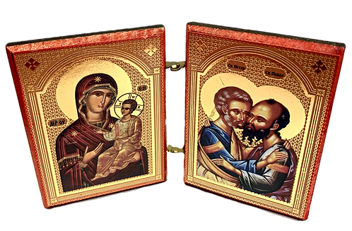 Diptych: Sts. Petar and Paul the Apostles, small icons