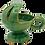Thumbnail: Ceramic Hand Censer/Incense Burner with Cross (Green)