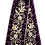 Thumbnail: Ribbons - Purple with Gold Embroidery