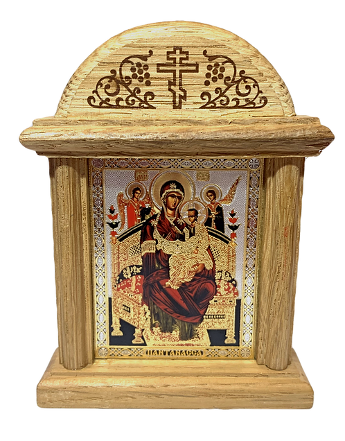 Icon Wood Shrine: Most Holy Theotokos - Queen of All