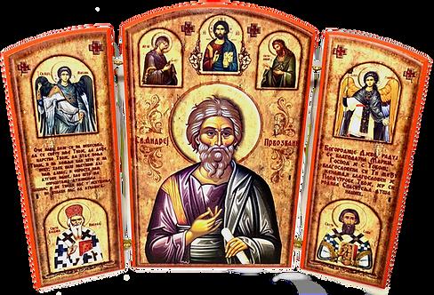 Triptych: St. Andrew the Apostle / Sveti Andrej Prvozvani, small icons