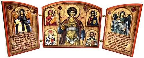 Triptych: Holy Great Martyr George the Trophy-Bearer, small icons