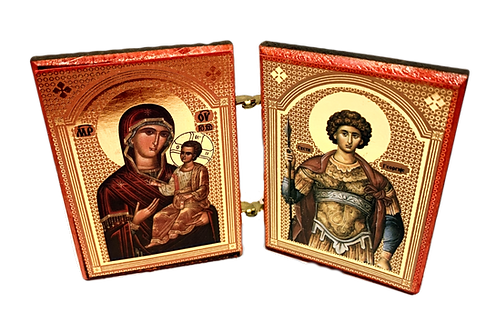 Diptych: Holy Great Martyr George the Trophy-Bearer, small icons