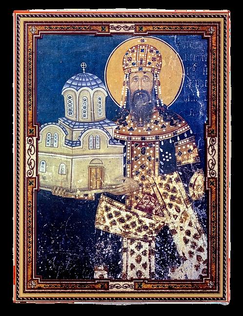 St. Stephen Milutin of Serbia/Sveti kralj Stefan Milutin, large icon