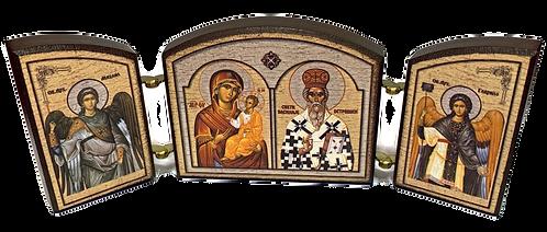 Triptych: St. Basil of Ostrog / Sveti Vasilije Ostroski, small icons