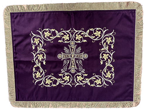 Dechani Gospel Cover – Purple with Gold Embroidery (Style I)