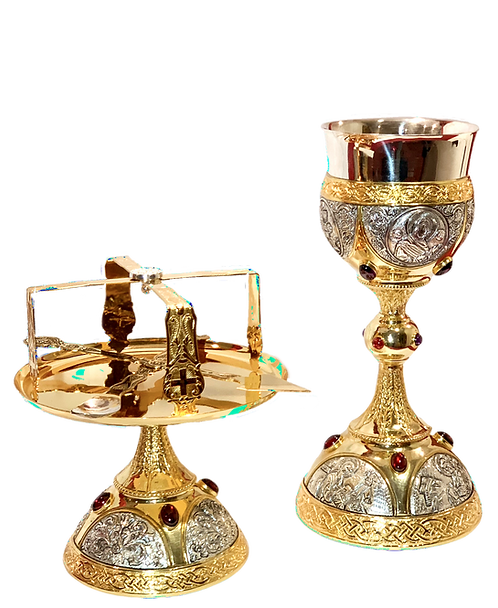 Chalice Set – Brass Gold-Silver Plated
