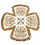 Thumbnail: Kerkyra Chalice Set – Ivory with Gold Embroidery