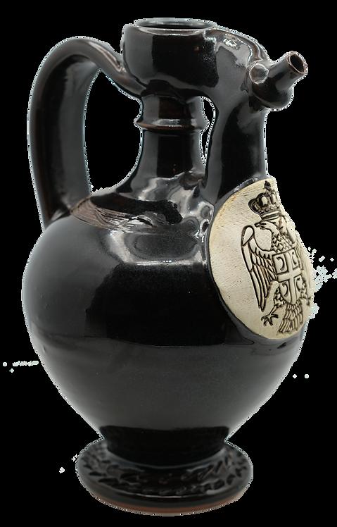Ceramic Flask (Dark Brown)