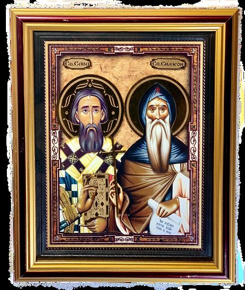 St. Sava and St. Symeon/Sveti Sava i Sveti Simeon, large icon