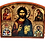 Thumbnail: Triptych: Christ Pantocrator / Hristos Svedrzitelj, small icons