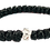 Thumbnail: Black Prayer Bracelet, with silver tone cross
