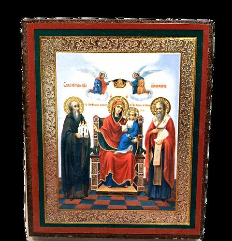 Icon: Virgin Enthroned with Saints / Bogorodica u tronu