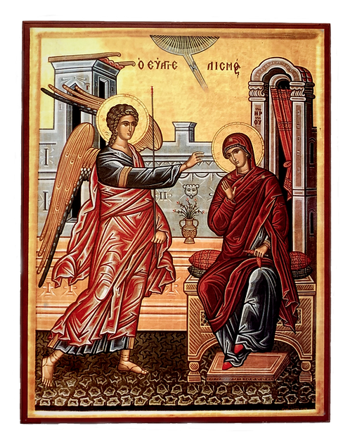 The Annunciation/Blagovesti, medium icon