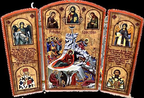 Triptych: Nativity of Christ / Rodjenje Hristovo, small icons