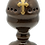 "Thumbnail: 4 ½"" Ceramic Semi-open Hand Censer/Incense Burner with Gold Tone Cross"