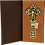 """Thumbnail: Gold-plated Blessing Cross with Black Enamel 6 1/2"""""""