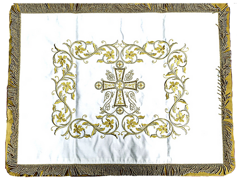 Dechani Gospel Cover – Ivory with Gold Embroidery