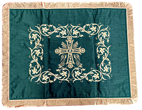 Dechani Gospel Cover – Emerald with Gold Embroidery