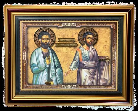 Holy Apostles Bartholomew and Barnabas, large icon