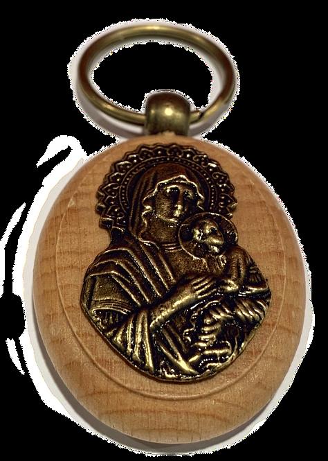 Keychain Medallion, Most Holy Theotokos/Presveta Bogorodica