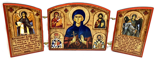 Triptych: St. Petka / Sveta Petka, small icons