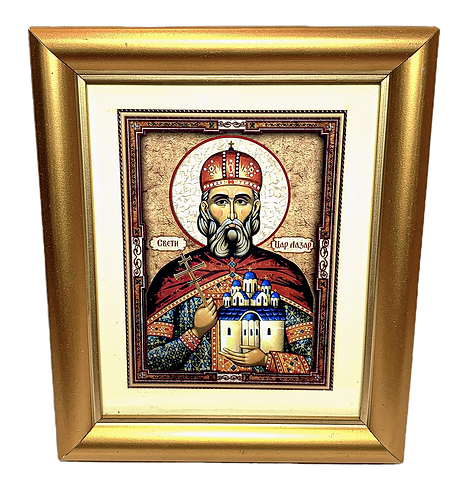 Holy Prince Lazar the Great Martyr / Sveti Knez Lazar, medium icon