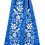 Thumbnail: Remeta Ribbons - Blue with Silver Embroidery