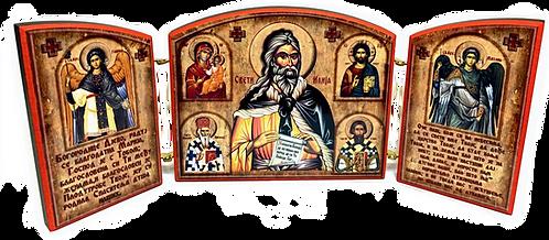 Triptych: Holy Prophet Elijah / Sveti Prorok Ilija, small icons