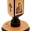 Thumbnail: Large Wooden Mahogany Candle Holder with icon (St. George)