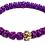 Thumbnail: Purple Prayer Bracelet, with silver tone cross