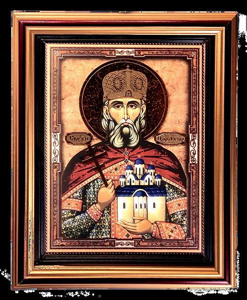 Holy Prince Lazar the Great Martyr/Sveti Knez Lazar, large icon