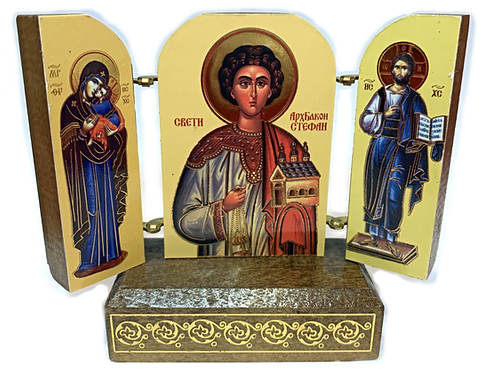 Triptych with stand: Holy Protomartyr and Archdeacon Stephen, small icons