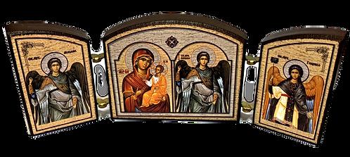 Triptych: Holy Archangel Michael/Sveti Arhangel Mihailo, small icons