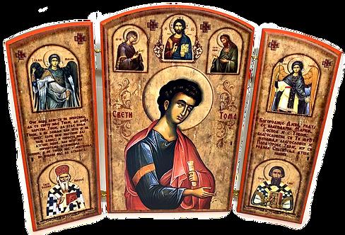 Triptych: St. Thomas the Apostle/ Sveti apostol Toma, small icons