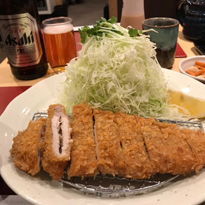 ビール with にんにくかつ@とんかつ 勝一
