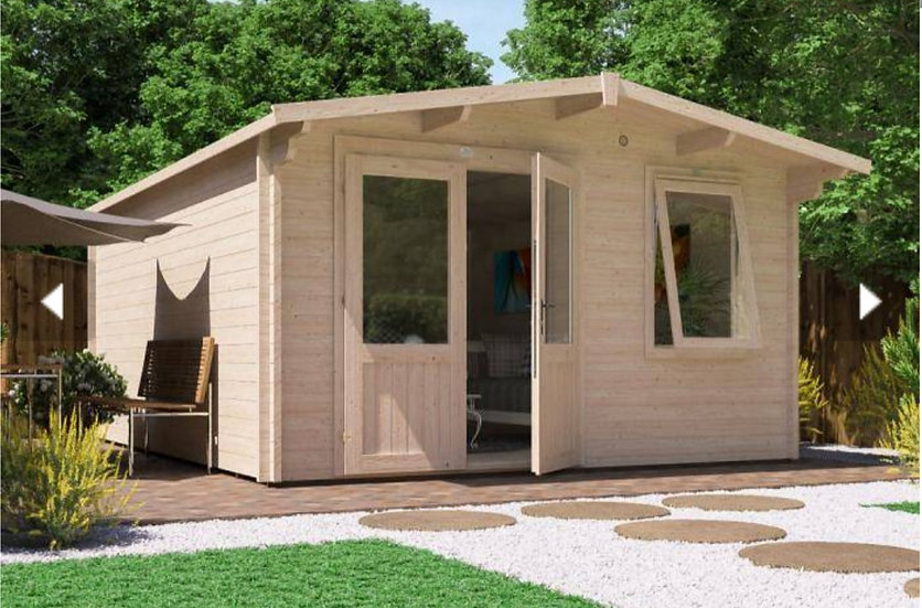 rhine log cabin 4m by 5m - assembly included