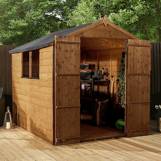 8x6ft tongue and groove apex dd shed