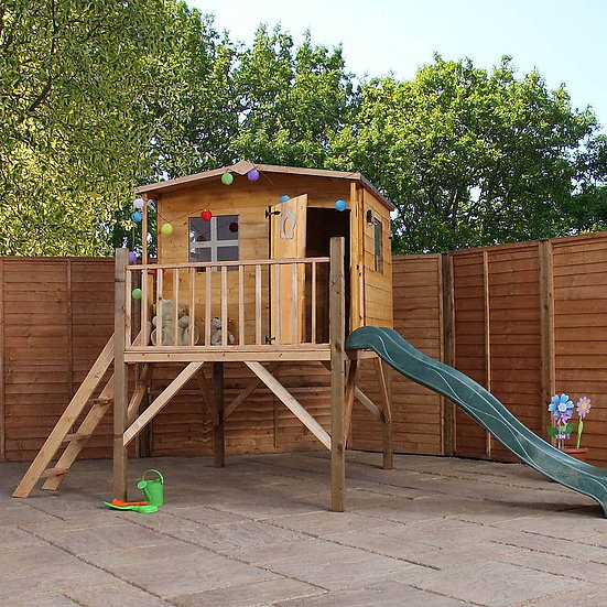 Rose Playhouse Tower with Slide