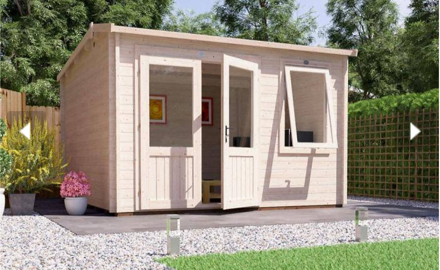 Carsare log cabin 3.5m by 3.5m - assembly included
